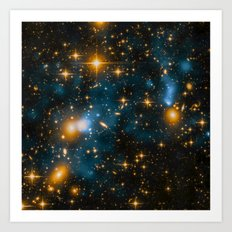 Cosmos 2, When stars collide (enhanced version) Art Print