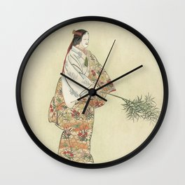 Japanese Art, 1920s Wall Clock