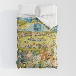 The Garden of Earthly Delights by Bosch Comforters