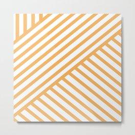 Crossing Lines - Orange Metal Print