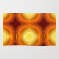 70s Area & Throw Rugs featuring Flashy 70s,effect,red by MehrFarbeimLeben