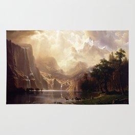 Albert Bierstadt - Among the Sierra Nevada, California Rug