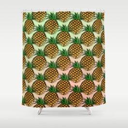Pineapple living  Shower Curtain