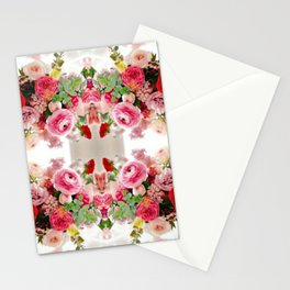 Romantic Flower Arrangement Stationery Cards