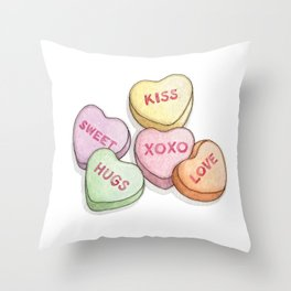 Candies & Sweets: Sweethearts Throw Pillow