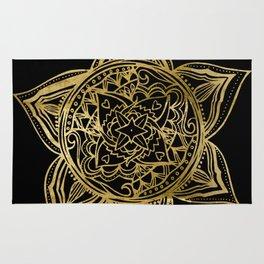 Zen Gold, Mandala 2 Rug