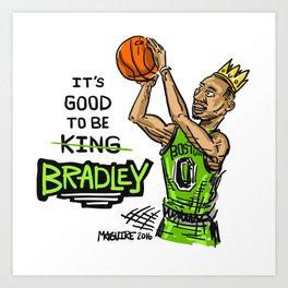 Avery Bradley Boston Game Winner! Art Print