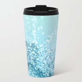 Seafoam Aqua Ocean MERMAID Girls Glitter #3 #shiny #decor #art #society6 Travel Mug