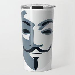 Anonymous Mask #society6 #decor #buyart #artprint Travel Mug