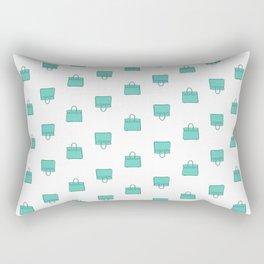 Teal / Sea Green Birkin Vibes High Fashion Purse Illustration Rectangular Pillow