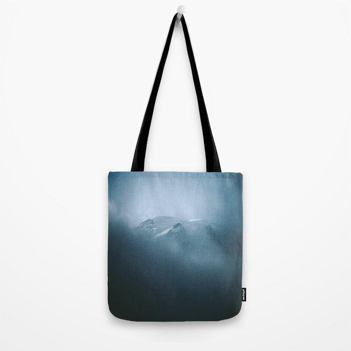 Cloudy Mount Rainier Tote Bag
