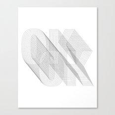 O K Canvas Print