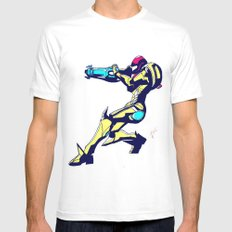 Samus Aran Color / Metroid Mens Fitted Tee LARGE White
