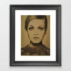 Twiggy. Framed Art Print