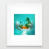 surfing Framed Art Prints featuring Surfing by nicky2342
