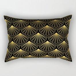 Singapore Art Deco Motif Pattern Rectangular Pillow