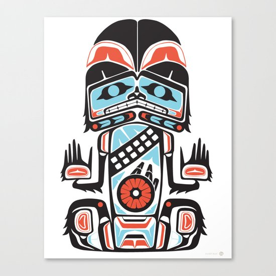 HAIRY MAN - Alliance Is Rebellion - wars, star, chewbacca Canvas Print