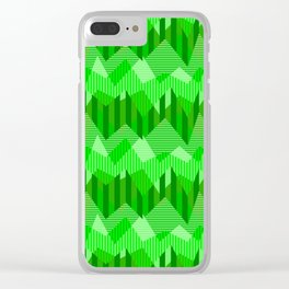 ZigZag All Day - Green Clear iPhone Case