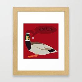christmas duck Framed Art Print