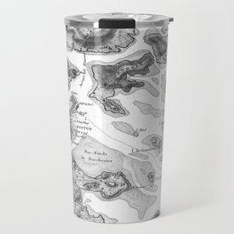 Vintage Map of Boston Harbor (1807) BW Travel Mug