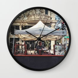 Street vendor Wall Clock