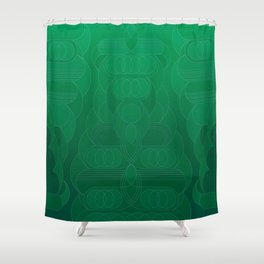 Round and About Emerald Shower Curtain