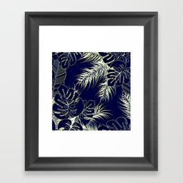 Tropical Blues Framed Art Print