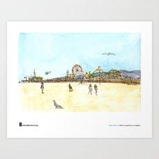 """Shiho Nakaza, """"Beach, Santa Monica"""" Art Print"""