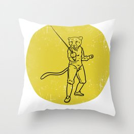 Fencing Gift Sabre Sword Foil Martial Arts Throw Pillow