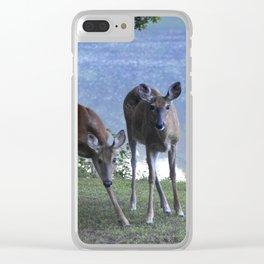 Grazing Deer Clear iPhone Case