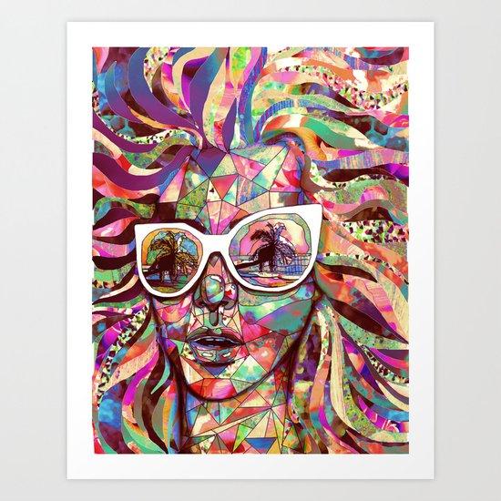Sun Glasses In a Summer Sun Art Print