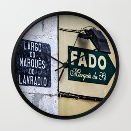 An alley in Lisbon Wall Clock