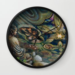 """Three Worlds: Divine Realm"" Wall Clock"