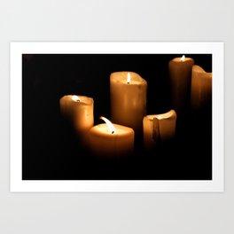 The Candlelight Vigil  Art Print