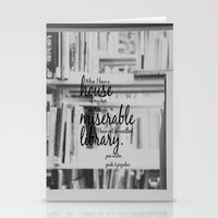 jane austen Stationery Cards featuring Jane Austen Library by KimberosePhotography