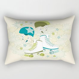 Roller Derby Rumble Rectangular Pillow