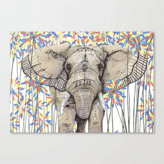 Elephant // Endangered Animals Canvas Print