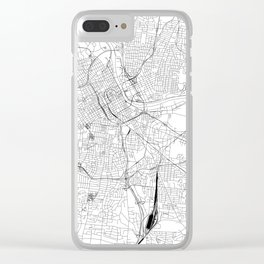 Nashville White Map Clear iPhone Case