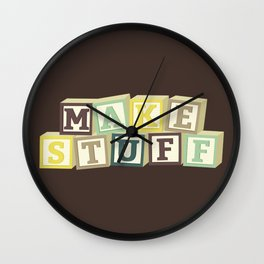 Make Stuff - Brown Wall Clock