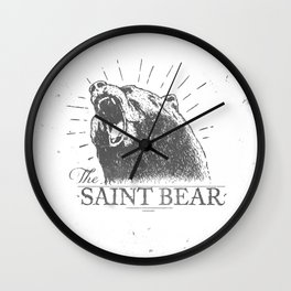 The Saint Bear Wall Clock