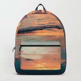 Beautiful Summer Beach Sunset Reflection Backpack