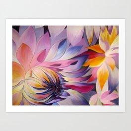 """Purple Dahlia"" Art Print"