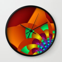 chaotic colors -2- Wall Clock