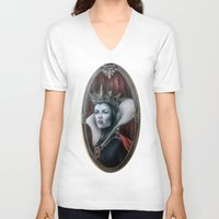 evil queen V-neck T-shirts featuring Evil Queen by Yehsiming Jue