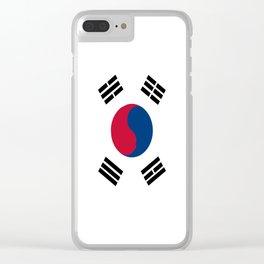 South Korean Flag Clear iPhone Case