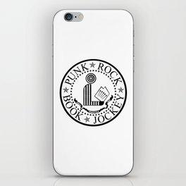 Punk Rock Book Jockey White Logo iPhone Skin