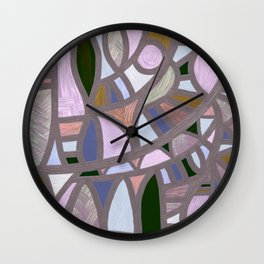 The texture of twilight Wall Clock