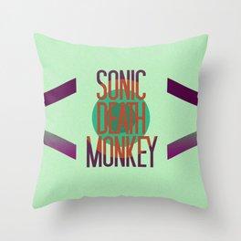 Sonic Death Monkey Throw Pillow