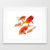 goldfish Framed Art Prints featuring Goldfish by Regan's World