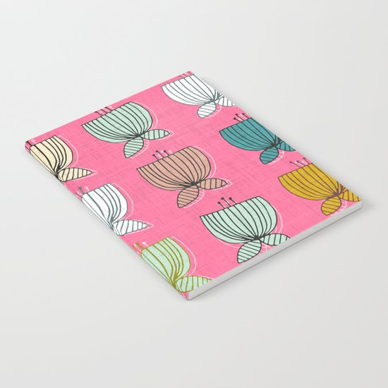 flower cups pink Notebook